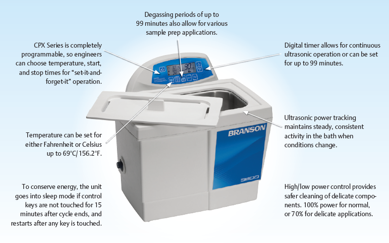 Branson CPXH Series Benchtop Ultrasonic Cleaners